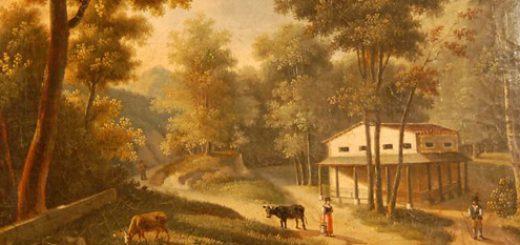 """Jeanette Åkerman, """"Hus i skog"""", 1800-talets första hälft"""