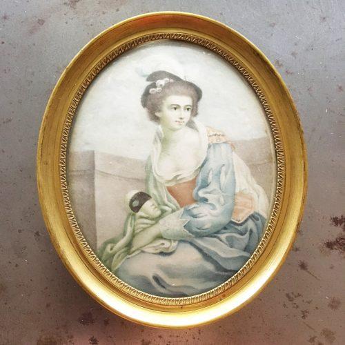 Miniatyrmålning, skådespelerska, 1800-tal