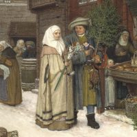 George von Rossen: Julmarknad 1872