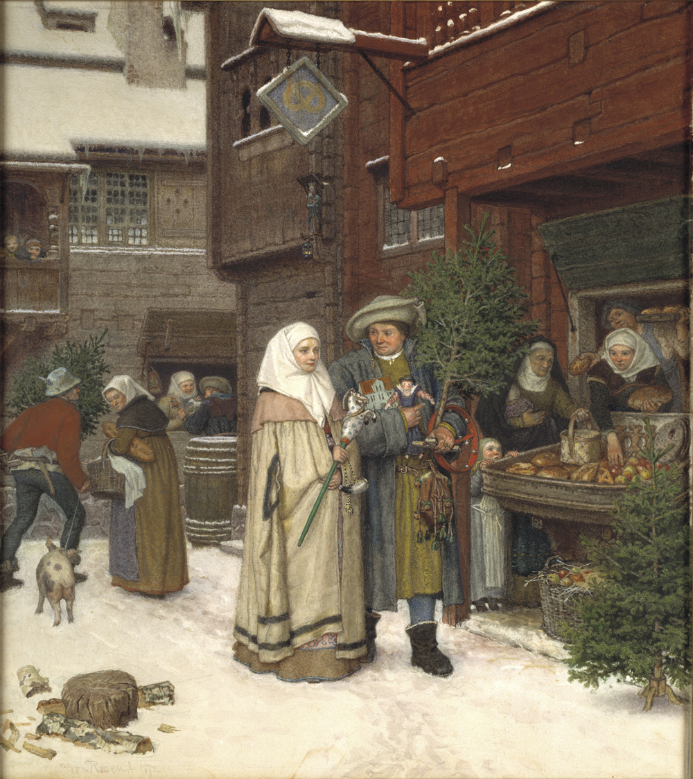 George von Rosen: Julmarknad 1872 NMB 457