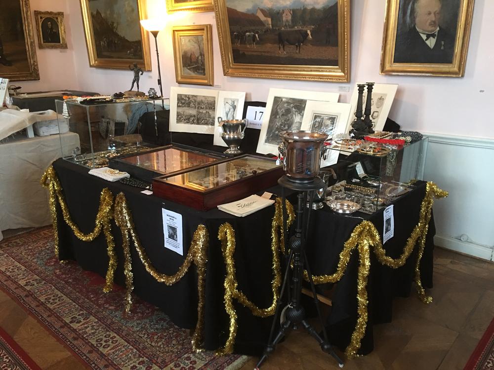 Vår monter på Svaneholms slott julmarknad 2017.