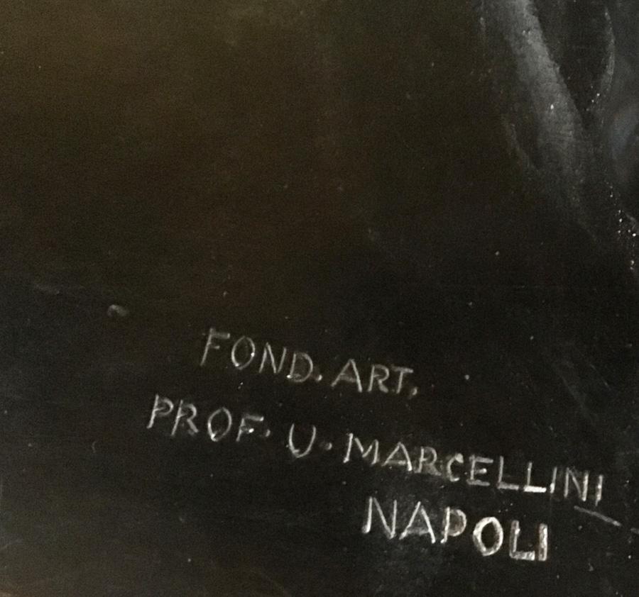 Signerad Fond.Art. Prof. U.Marcellini Napoli.