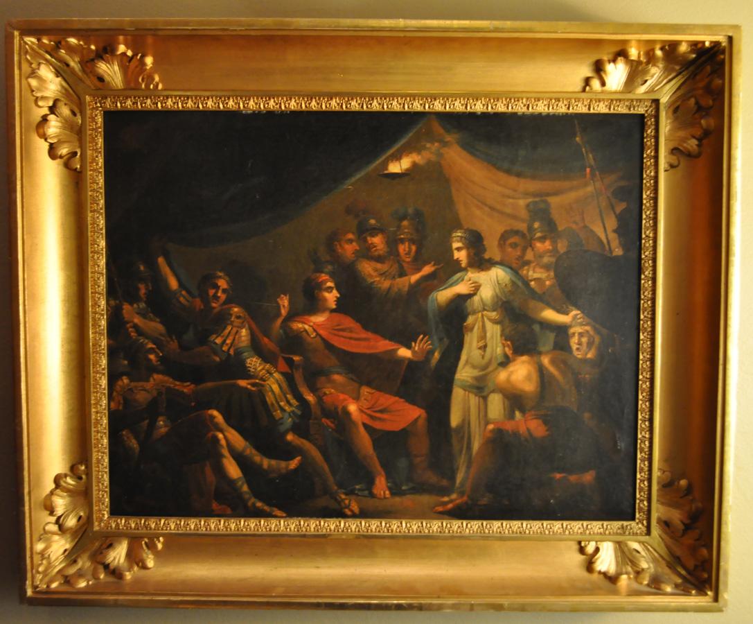 Alexander, antik målning av Gustaf Erik Hasselgren, empireram.