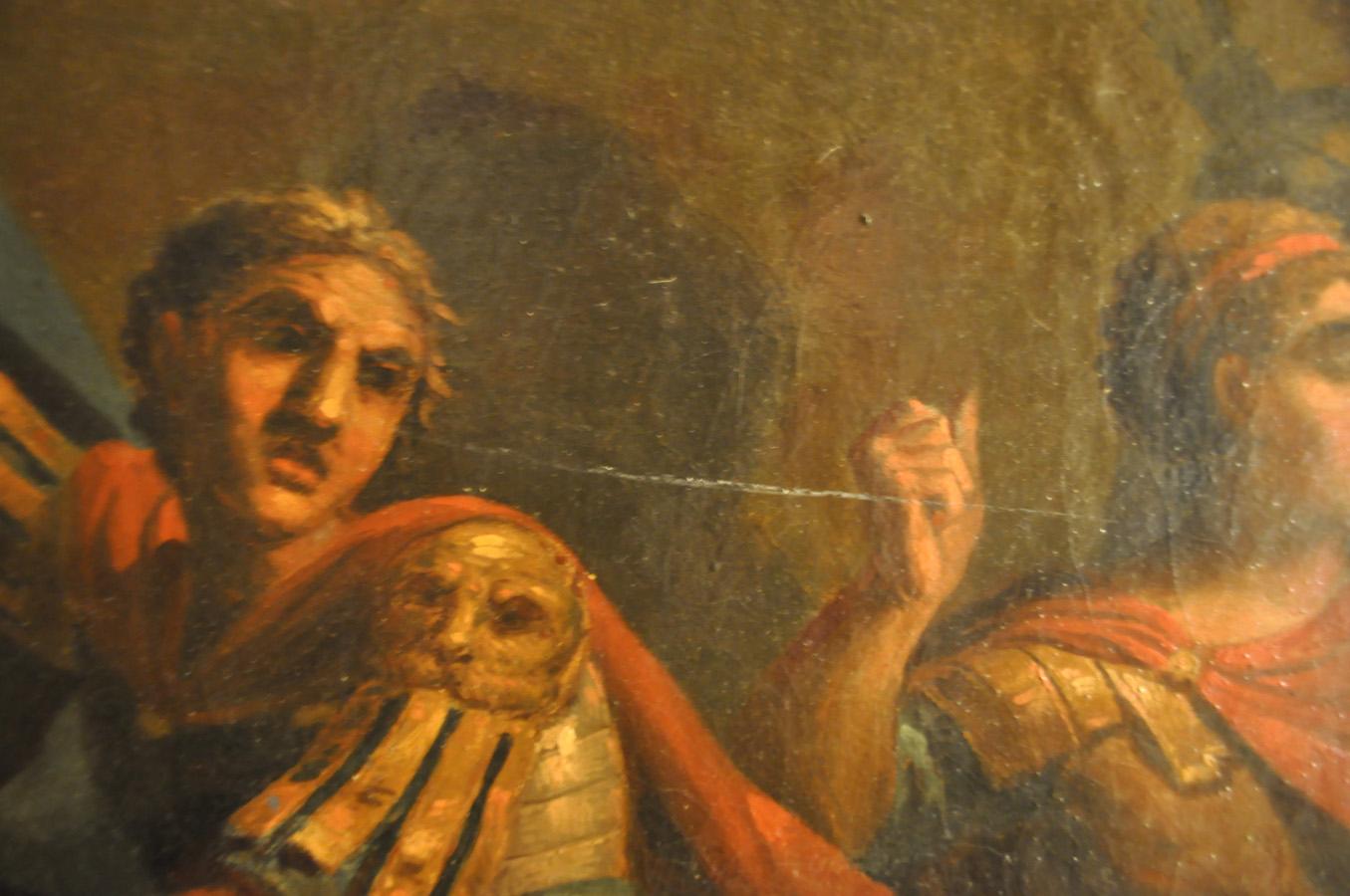 Detalj av den antik målning av Hasselgren.
