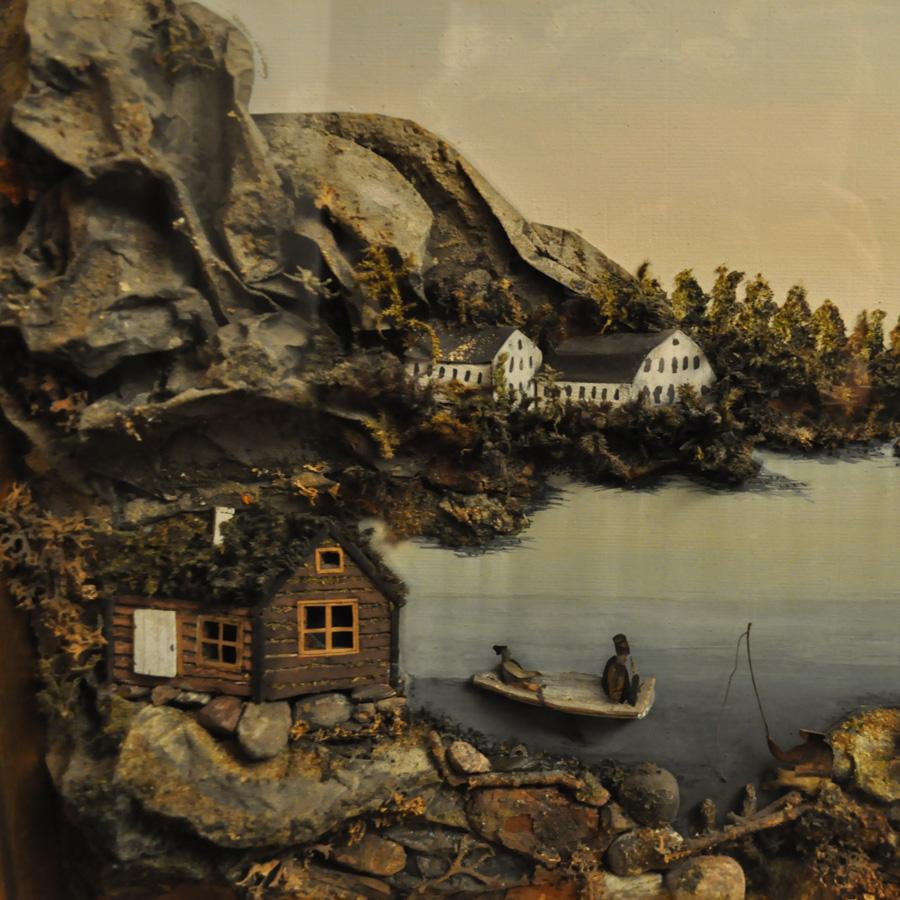 Lanskapsmålning / Perspektivtavla 1800-tal.