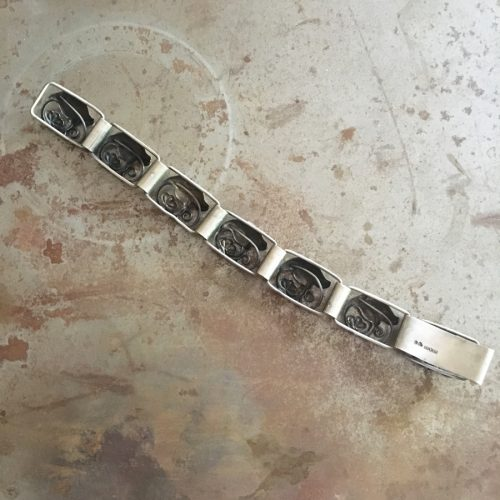 Silverarmband formgivet av G. Kaplan för Ge-Kå Smycken.