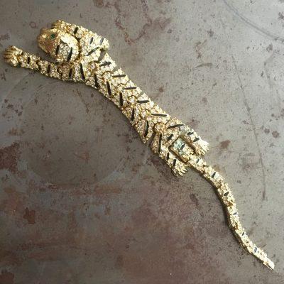 Armband, panter, 1980-tal