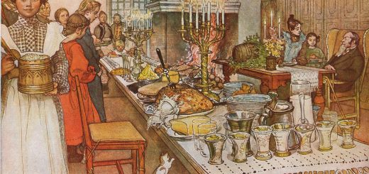 Julaftonten, av Carl Larsson, 1904.
