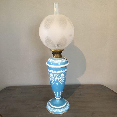 Fotogenlampa, opalinglas, 18/1900