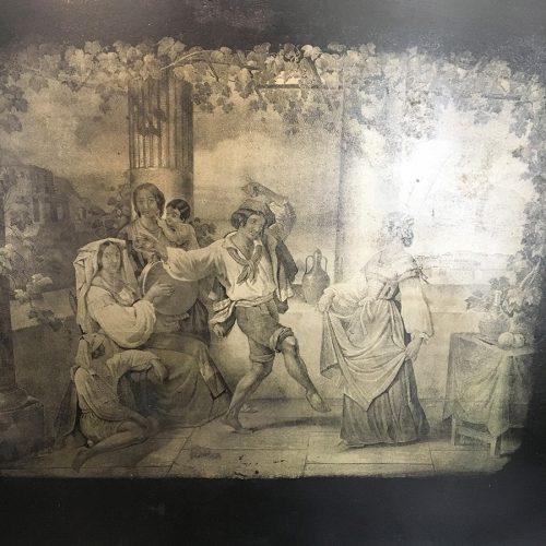 Motiv med en dansande man under vinrankorna