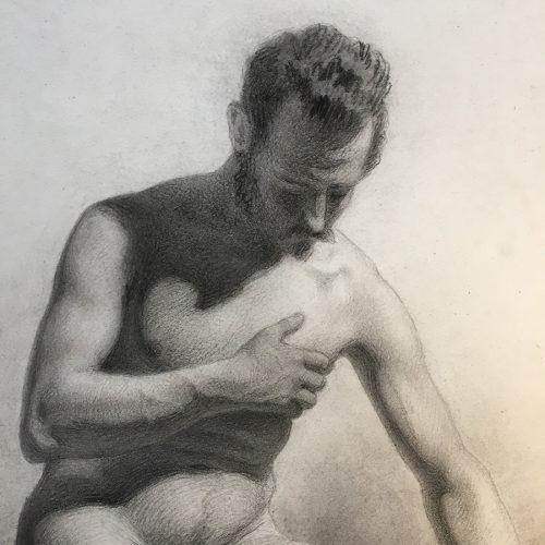 Nakenstudie, Johan Christian Jansson, 1864