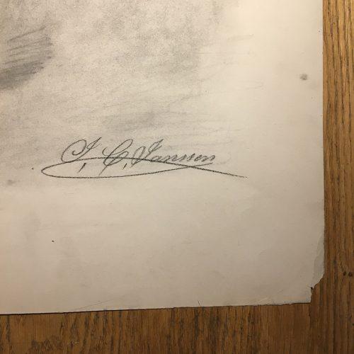 Daterad Nov 1864 och signerad J.C. Jansson.