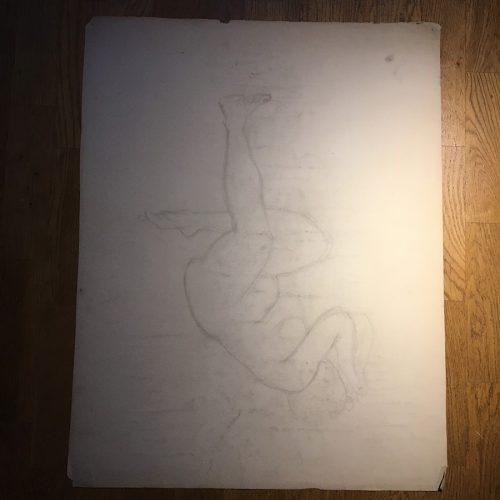 Teckningens baksida.