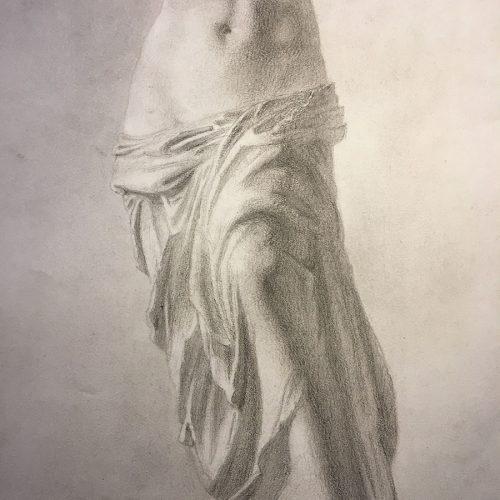 Detaljbild, nakenstudie