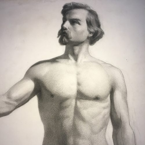 Akademisk nackenstudie, 1800-talets mitt.