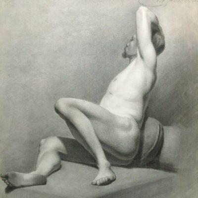 Nackenstudie av man, 1800-tal