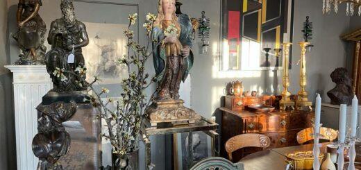 Interiörbilder från vår antik- och inredningsbutik på Österlen